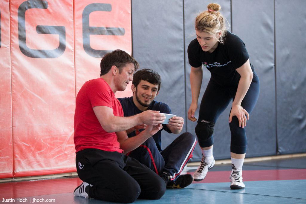 World Champion Wrestlers Training and studying video